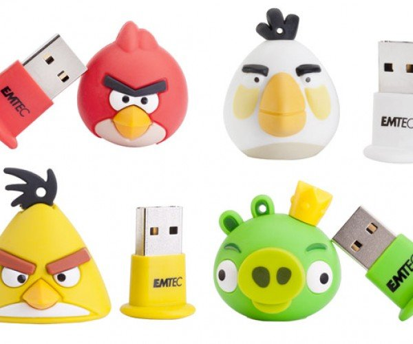 Angry Birds Flash Drives Look More Cute Than Angry