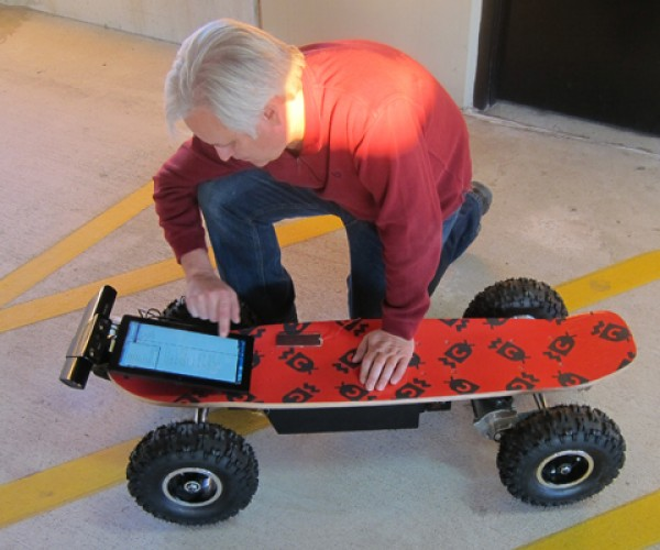 Board of Awesomeness Kinect Longboard Uses Everything but Your Feet to Make It Move