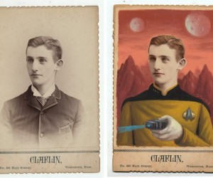 Old Cabinet Cards Turned into Geek Icons