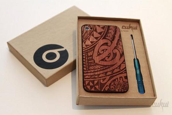 cukui iphone 4 4s backplate koa wood rustic