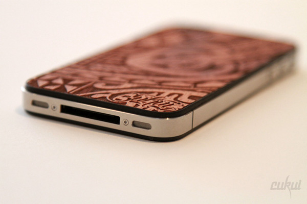 cukui iphone 4 4s backplate koa wood rustic