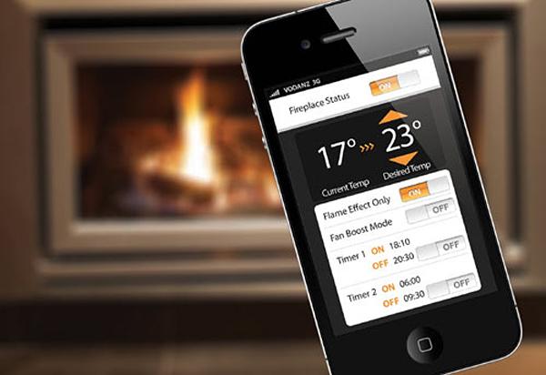 escea wi fi connected fireplace