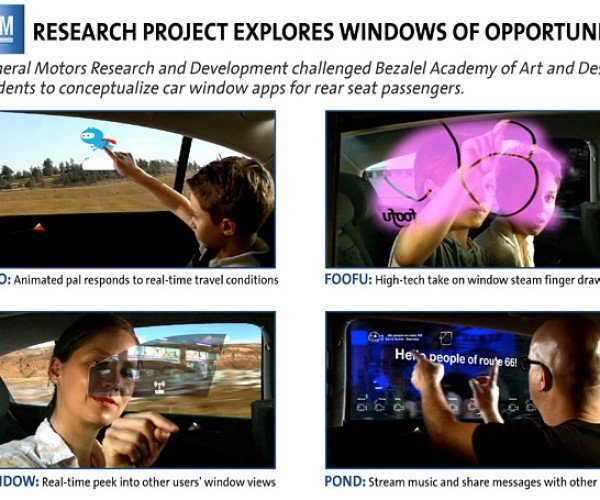 GM Demos Touchscreen Windows for Interactive Road Trips