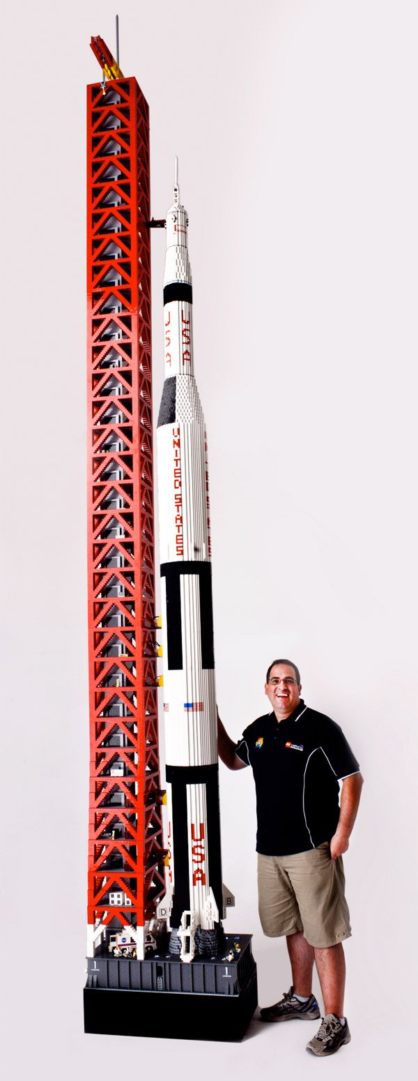 giant lego saturn rocket