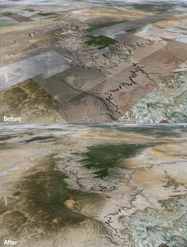google earth smooths maps 2