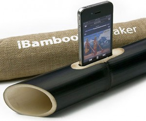 iBamboo Passive Acoustic Speaker Says No to Electricity