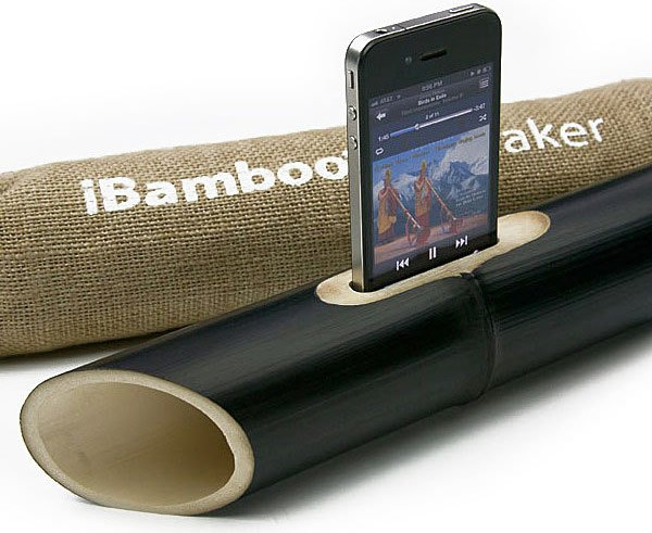 ibamboo bamboo passive speaker amplifier iphone