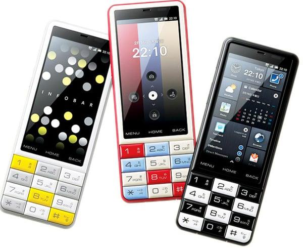 infobar c01 kddi japan smartphone touchscreen candybar