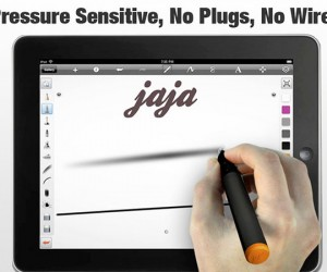 jaja: Pressure-Sensitive iPad Stylus Uses Sound Waves to Detect Pressure