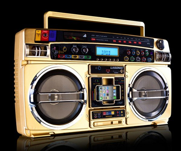 Lasonic I931X Gold Boombox iPod Dock: Suburb Blaster