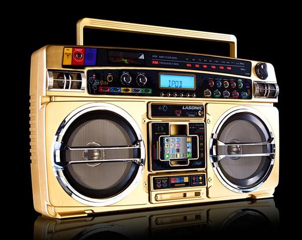 lasonic I931x gold boombox ipod dock