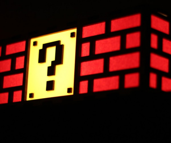 Mario Question Block Lamp is a Sure Hit