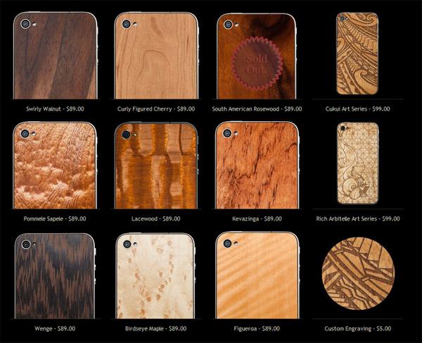 material 6 wood iphone back 4 4s custom diy
