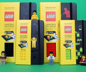 LEGO Moleskine Notebooks Even Let You Stack Blocks on Them