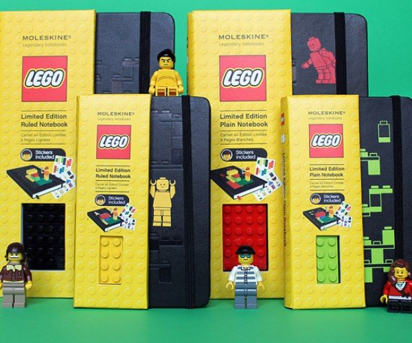 LEGO Moleskine Notebooks Even Let You Stack Blocks on Them