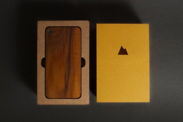 monolith solid wood back panel iphone 4 4s