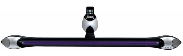 music dock shaper image lighting effect strobe ipod iphone