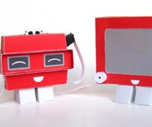 Etch-a-Sketch and Viewmaster Papercraft Toys Give Paper Personality