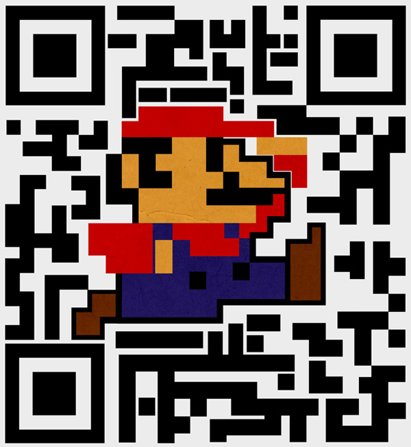 qr code super mario kuwahara video games