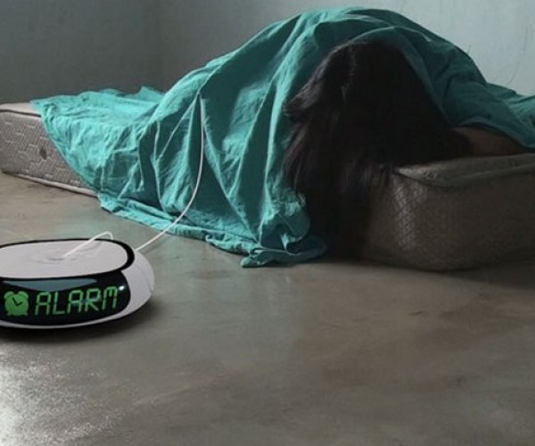 Robot Vacuum Alarm Clock Pulls Your Blankets off to Wake You, Poops Cubes