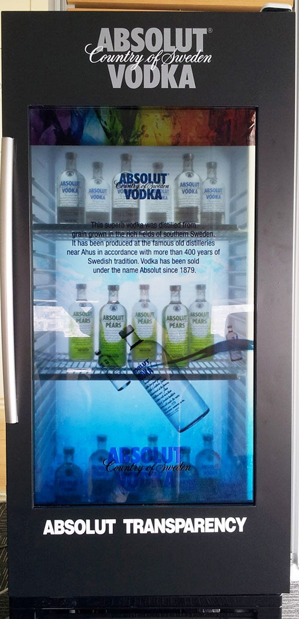samsung absolut transparent lcd