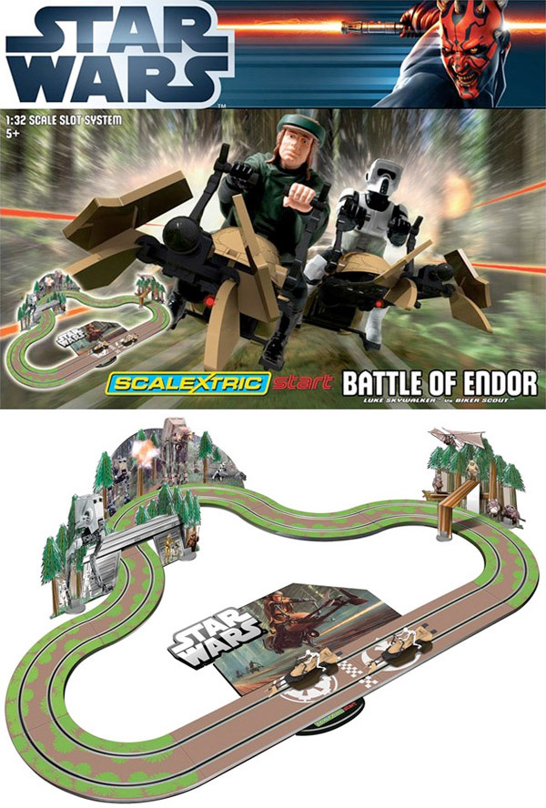 scalextric star wars battle for endor slot cars
