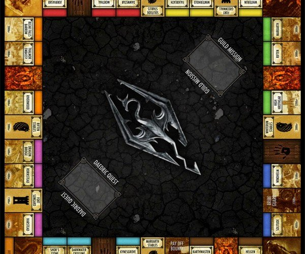 Skyrim Monopoly Adds a Few More Hours of Game Play