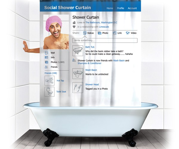 Social Shower Curtain Has Easy to Adjust Privacy Settings