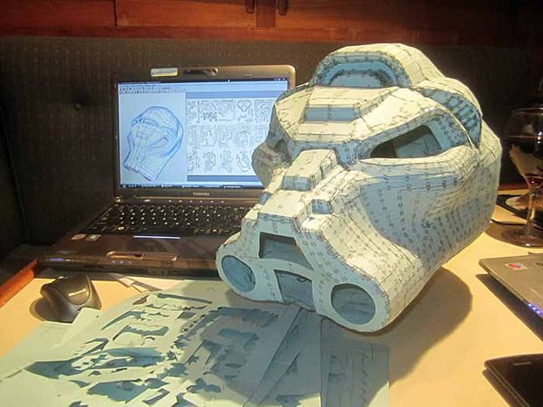 papercraft space marine helm terminator shawn thorsson