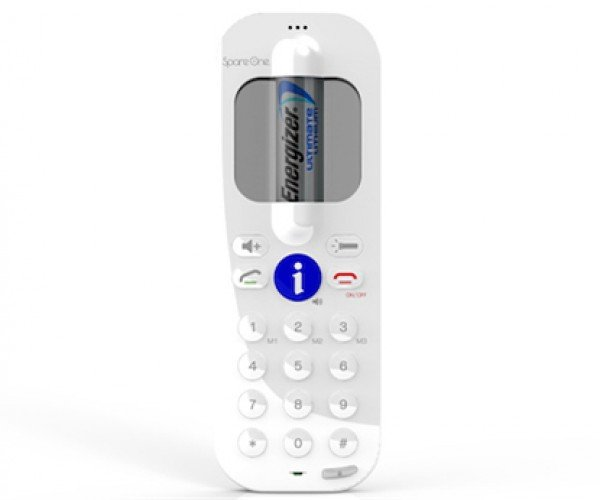 SpareOne Mobile Phone Lasts Up to 15 Years on 1 AA Battery: Will There Even Be AA Batteries 15 Years from Now?