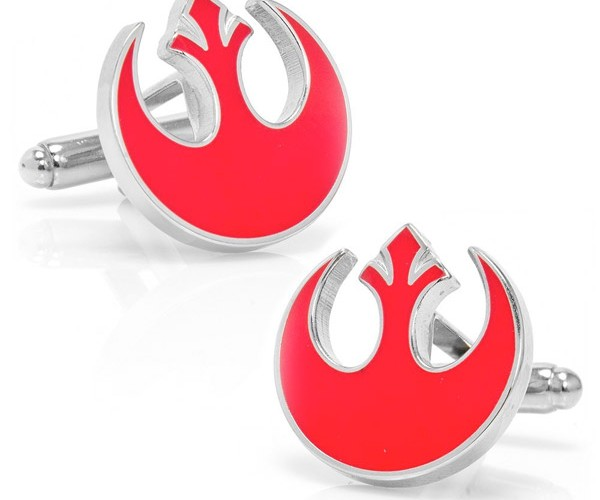Choose Your Allegiance with Empire and Rebel Alliance Star Wars Cufflinks