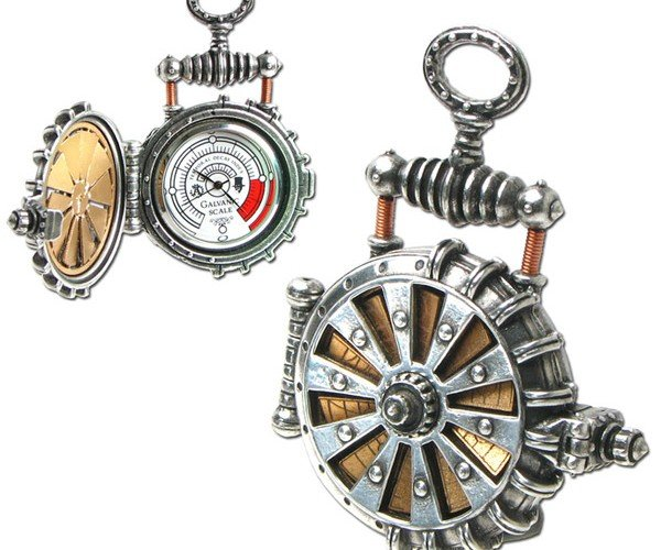 Solar Powered Turbine Steampunk Pocket Watch is Perfect for Doctor Who
