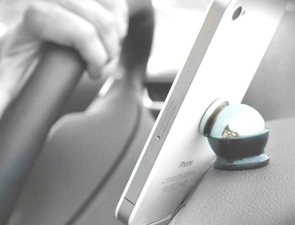 Magnetic Cell Phone Mount >> Steelie Mobile Device Holder: Perfect Kitchen Stand for iPad