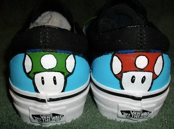 super mario bros custom vans