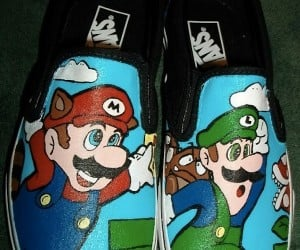 Super Mario Bros. Custom Vans Deck out Your Feet Mario Style