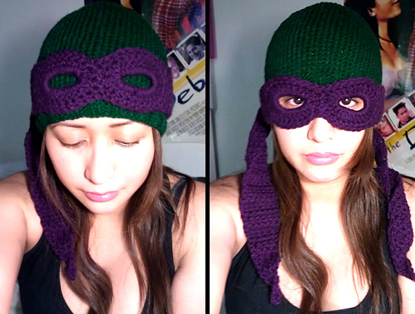 teenage mutant ninja turtles convertible beanie by miss pamela