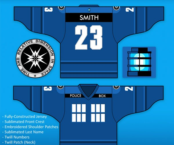 Doctor Who and Link Hockey Jerseys for Time-Traveling Teams