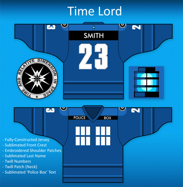 time lord doctor who tardis jersey
