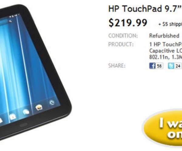 Woot Offers Refurb HP TouchPad for $219.99