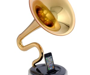 Trumstand iPhone Dock: Your iPhone Joins The Brass Section
