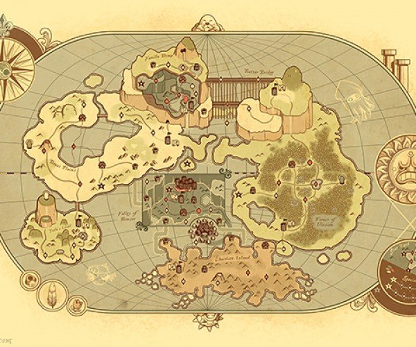 Ye Olde Mario World Map: 1-1 B.C.