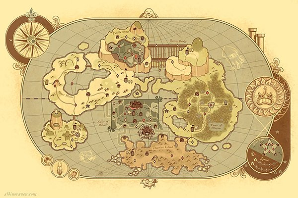 ye olde mario world map by glen brogan
