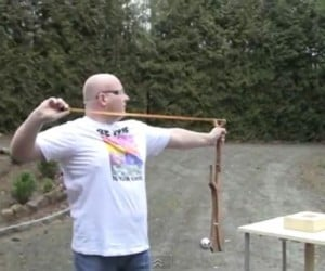 Joerg Sprave Shows Off Deadliest Zombie Killin' Slingshot Yet