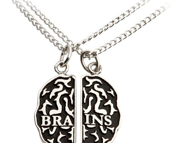 Zombie Brains Friendship Necklace Set Lets Friends Trade Cerebrums