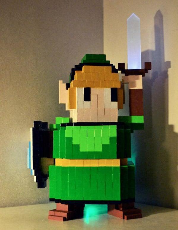 16 Bit Legend Of Zelda Pc Case Is Link Tastic