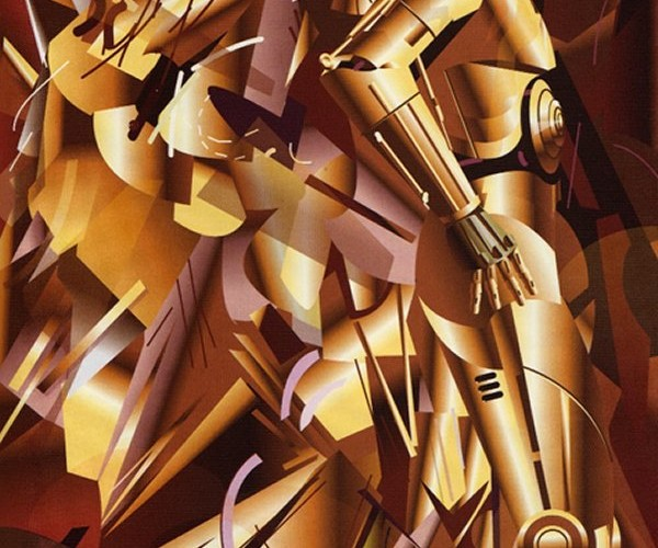 C-3PO Descending a Staircase and Other Classic Paintings Merged with Sci-Fi