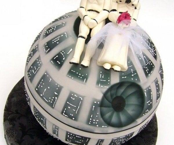 Cutest Death Star Wedding Cake Ever