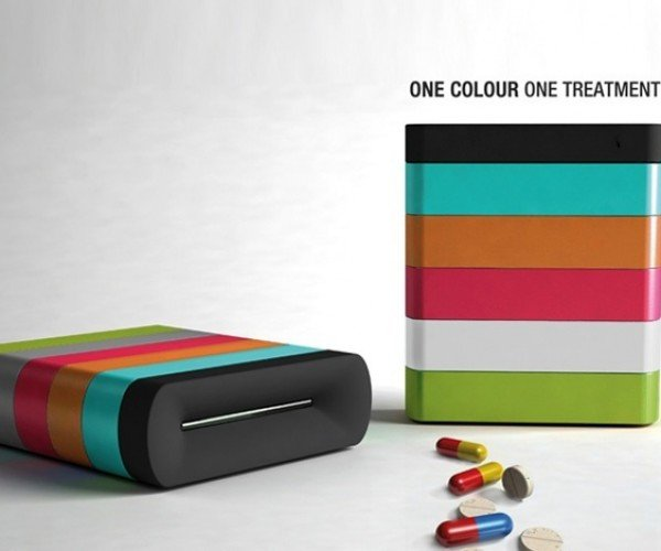 Memo Pill Box Color Codes Medication, Lights Up When You Need to Pop Some Pills