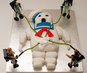 Stay Puft Birthday Cake, Don't Cross the Icing Streams