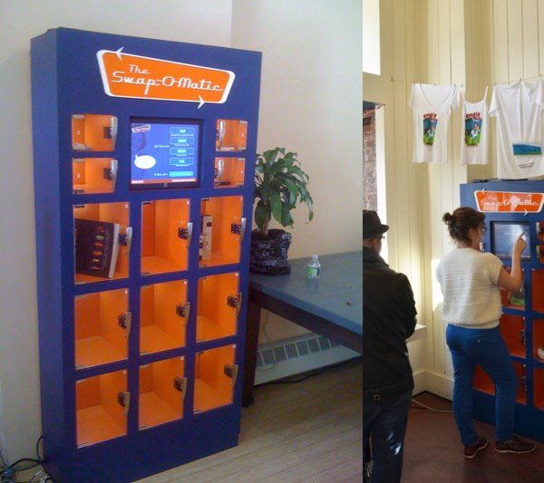 Swap o matic vending machine swap outside the box for Swapping houses instead of selling